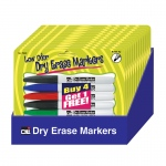 12 Pks Of 5 Pocket Dry Erase Marker Low Odor