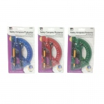 12 Compass 6in Swing Arm Protractor Assorted Colors