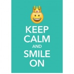 Keep Calm Inspire U Poster Emoji Fun