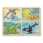 4 In 1 Sea Life Jigsaw Puzzle