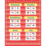 34 X 44in Red Marquee Pocket Chart 10 Pockets