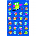 Owl Stars Supershapes Stickers Large