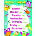 Owl Days Of The Week Learning Chart