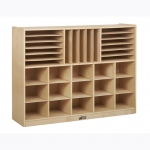 Early Childhood Multi-Section Storage Cabinet: Birch