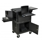 "Luxor 41""H Ultimate Presentation Station with Cabinets"