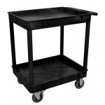 "Luxor Large Tub Cart - Two Shelves 6"" Casters"