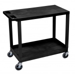 "Luxor 32"" x 18"" Cart - One Tub/One Flat Shelves"