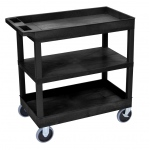 "Luxor 32"" x 18"" Cart - Two Tub/One Flat Shelves"
