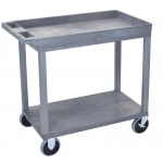 "Luxor 32"" x 18"" Cart - One Tub/One Flat Shelf - Heavy-Duty"