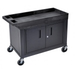 "Luxor 32"" x 18"" Cart - One Tub/One Flat Shelf, Cabinet"