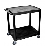 Luxor Large Flat Shelf Cart - Two Shelves