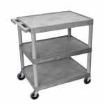 Luxor Large Flat Shelf Cart - Three Shelves