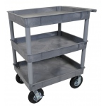 "Luxor Large Tub Cart - Three Shelves 8"" Casters"