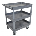 "Luxor Large Tub Cart - Three Shelves 6"" Casters"