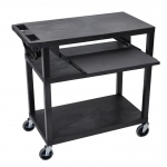 "Luxor 34""H Presentation Station - Three Shelves, Pullout"