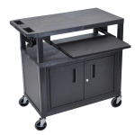 "Luxor 34""H Presentation Station - 3 Shelves, Cab, Pullout"