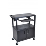"Luxor 42""H Presentation Station - 3 Shelves, Cab, Pullout"
