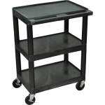 Luxor Heavy Duty AV Cart 3 Shelves: Black