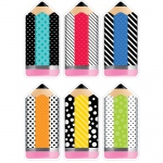 Striped/spotted Pencil Cut Outs Bold And Bright