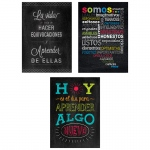 3pk Spanish Inspire U Posters Chalk It Up