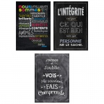 3pk French Inspire U Posters Chalk It Up