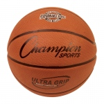 Official Size 7 Rubber Basketball W/ Bladder & Ultra Grip