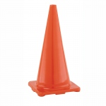 Orange Flexible Vinyl Cone Hi Visibility 28in