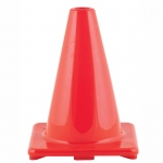 Orange Flexible Vinyl Cone Hi Visibility 6in