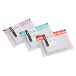 Asst Colors Note Card Zip Pocket