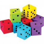 20 Pack Foam Colorful Dice