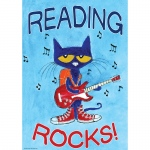 Pete The Cat Reading Rocks Poster Positive
