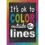 Color Outside Lines Positive Poster