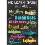 We Learn Grow & Are Positive Poster