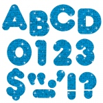 (6 Pk) Ready Letters 4in Casual Blue Sparkle