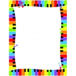 (6 Pk) Colorful Keyboard Paper