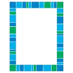 (6 Pk) Stripe-Tacular Cool Blue Terrific Paper