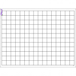(12 Ea) Graphing Grid Small Squares Wipe Off Chart 17x22