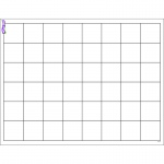 (12 Ea) Graphing Grid Large Squares Wipe Off Chart 17x22