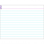 (12 Ea) Index Card Wipe Off Chart 17x22
