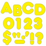 (6 Pk) Ready Letters 2in Casual Yellow