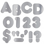 (6 Pk) Ready Letters 2in Casual Metallic Silver