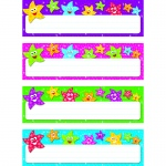 (6 Pk) Dancing Stars Desk Toppers Name Plates Variety Pk