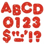 (6 Pk) Ready Letters 3in Red Sprkl Casual 123 Per Pk