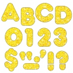(6 Pk) Ready Letters 3in Yellow Sparkle Casual 123 Per Pk
