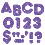 (6 Pk) Ready Letters 3in Purple Sparkle Casual 123 Per Pk