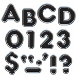 (6 Pk) Ready Letters 4in Black Colorful Chrome 71 Per Pk