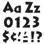 (6 Pk) Ready Letters 4in Black Venture Uppercase & Lowercase
