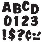 (6 Pk) Ready Letters 4in Black Splash Uppercase