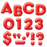 (6 Pk) Ready Letters 4in 3-D Red