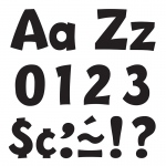 (3 Pk) Ready Letter 4in Playful Blk Uppercase & Lowercase